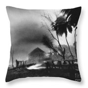 Hurricane In The Caribbean Throw Pillow