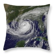 Hurricane Isaac In The Gulf Of Mexico Throw Pillow