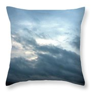 Hurricane Isaac Storm Clouds Throw Pillow