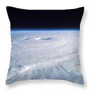 Hurricane Isabel Throw Pillow