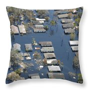 Hurricane Katrina Damage Throw Pillow