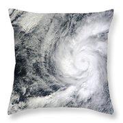 Hurricane Kenneth Off The Coast Throw Pillow