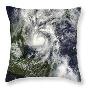Hurricane Paula Throw Pillow