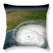 Hurricane Rita Throw Pillow