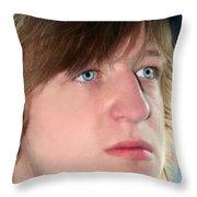 Hurt Teenage Boy Throw Pillow