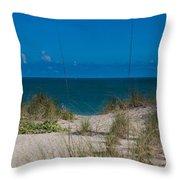Hutchinson Island Heaven Throw Pillow by Trish Tritz