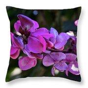 Hyacinth Bean Throw Pillow