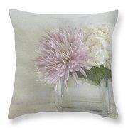 Hydrangea And Mum Throw Pillow