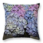 Hydrangea Boquet Throw Pillow