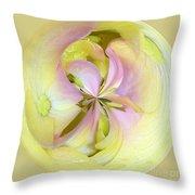 Hydrangea Circle Throw Pillow