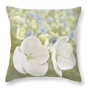 Hydrangea Dreams Throw Pillow