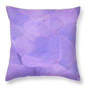 Hydrangea Whispers Throw Pillow