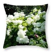Hydrangeas And A Rose Throw Pillow