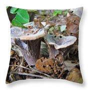 Hygrophorus Caprinus Mushrooms Throw Pillow