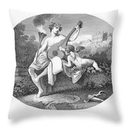 Hymen And Cupid Throw Pillow