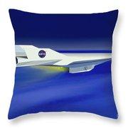 Hyper-x Hypersonic Aircraft Throw Pillow