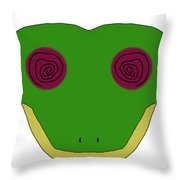 Hypno Frog Throw Pillow