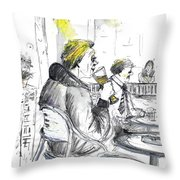 I Am Only Here For The Beer Throw Pillow