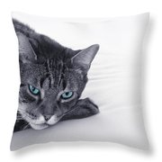 I Close My Eyes And Count To T Throw Pillow