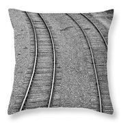 I Curve To The Left Throw Pillow