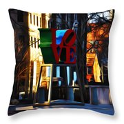 I Did It For Love Throw Pillow