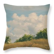 I Exhale And Tell Myself To Smile Throw Pillow