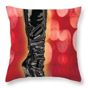 I Love The Night Life Patent Boots Throw Pillow