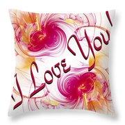 I Love You Card 1 Throw Pillow