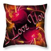 I Love You Card 2 Throw Pillow