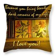 I Love You Night Graffiti Greeting Card Throw Pillow
