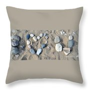 I Loveu Pebbles Throw Pillow