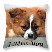 I Miss You Card Throw Pillow