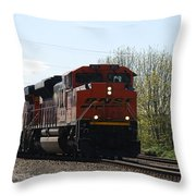 I See The Train A Comin' Throw Pillow