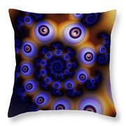 I Spiral With My Little Eye Throw Pillow