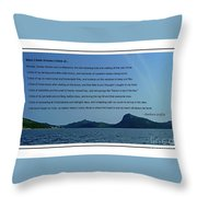 I Think Of Home Throw Pillow