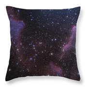Ic 59 And Ic 63 Near Gamma Cas Throw Pillow