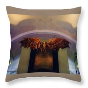 Icarus In The Louis Armstrong International Airport In New Orleans Throw Pillow by John Malone