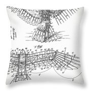 Icarus Patent 1889 Throw Pillow