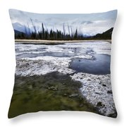 Ice And Water Vermilion Lakes Throw Pillow