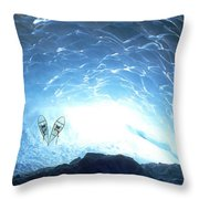 Ice Cave, Appa Glacier, Pemberton Ice Throw Pillow