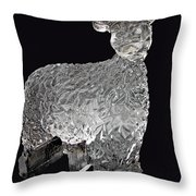 Ice Cold Lamb Carved In Ice Throw Pillow
