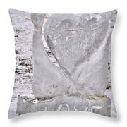 Ice Cold Love Throw Pillow