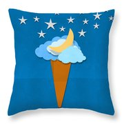 Ice Cream Design On Hand Made Paper Throw Pillow by Setsiri Silapasuwanchai