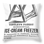 Ice Cream Freezer, 1872 Throw Pillow