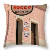 Ice Cream Shop In Todos Santos Throw Pillow