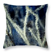 Ice Crystals - Abstract Throw Pillow