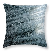Ice Crystals Abstract Throw Pillow
