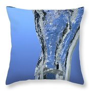 Ice Cube Dropped In Water Throw Pillow