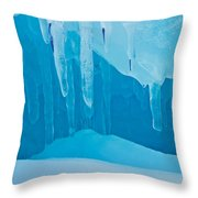Ice Detail On Bruce Peninsula, Georgian Throw Pillow
