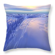 Ice Fissure Throw Pillow